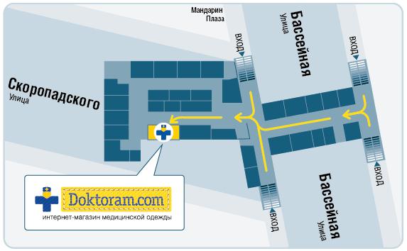 Схема расположения магазина